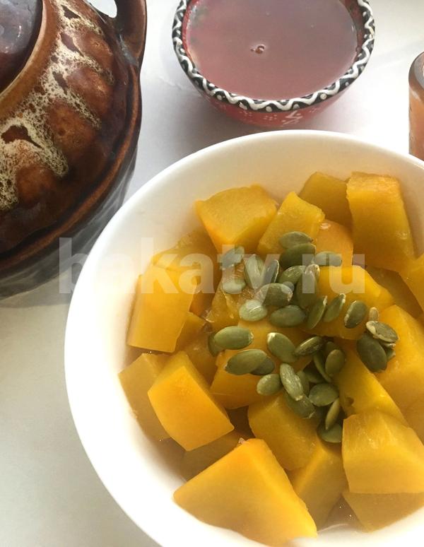 Тыква в горшочке с лимоном и медом